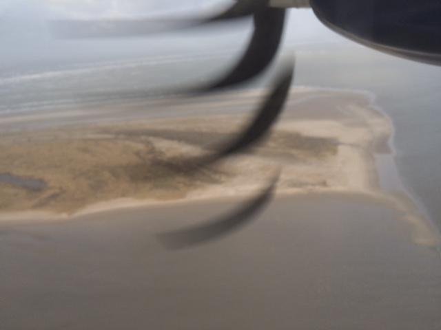 Juist von oben - Landeanflug