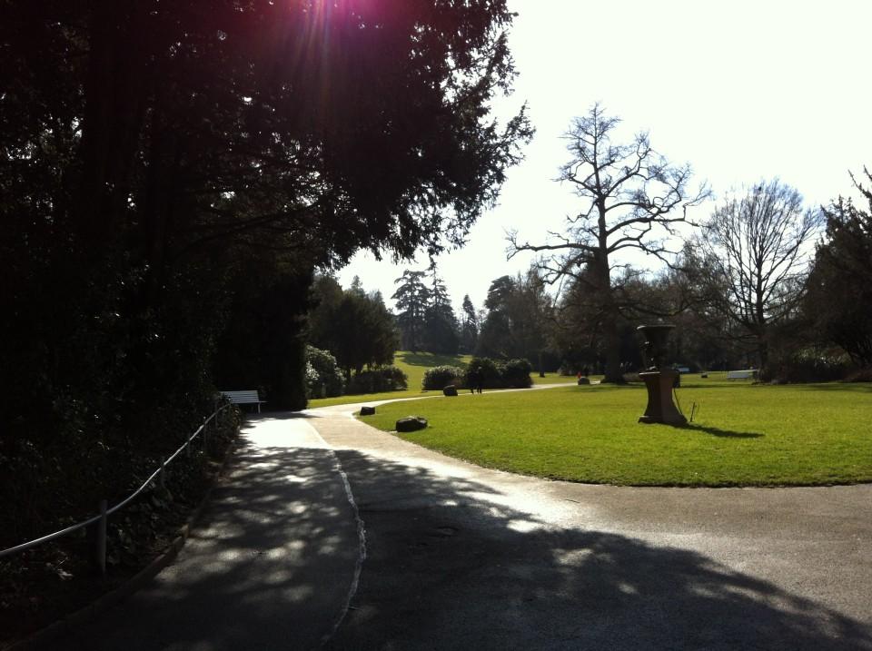 Weitläufig wie ein englischer Park: der Schlosspark in Weinheim