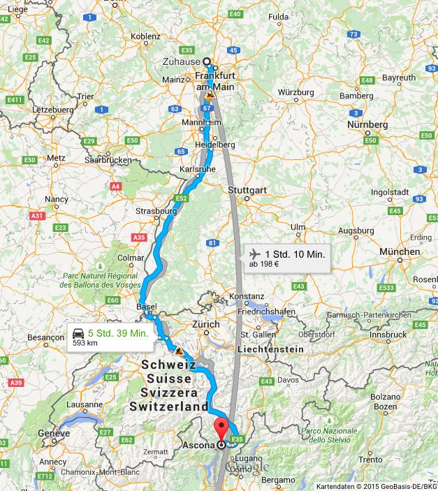 Google Maps Frankfurt Ascona
