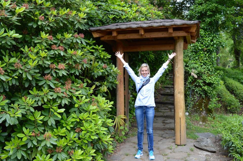 Tor zum japanischen Garten auf dem Monte Verità