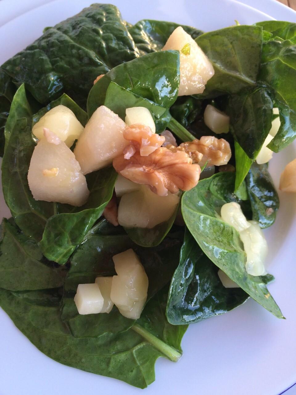 Pecorino-Spinat Salat Marcus Lauk