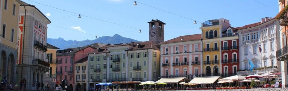 Piazza in Locarno, Tessin