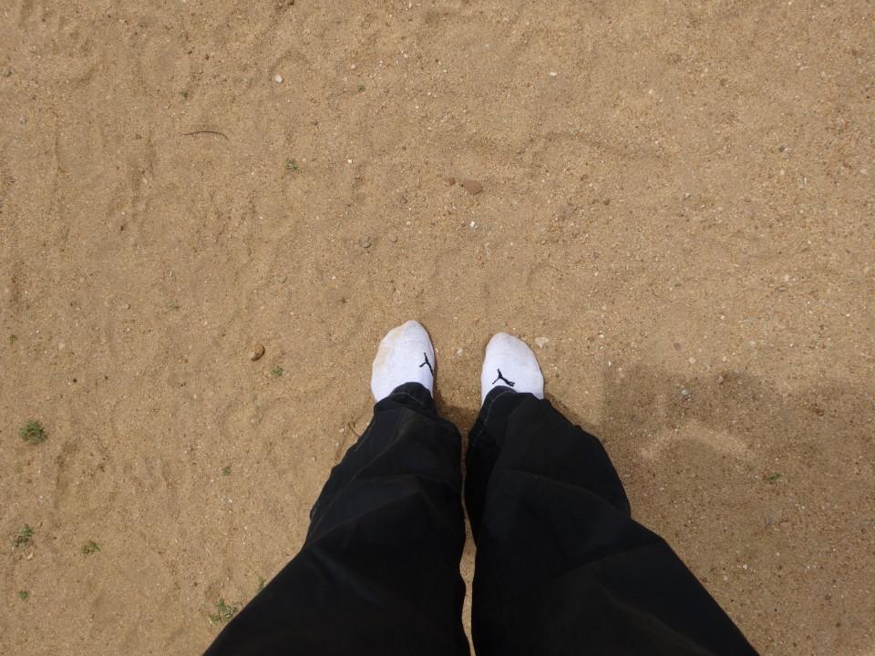 Auf Socken durch Polonnawura Sri Lanka