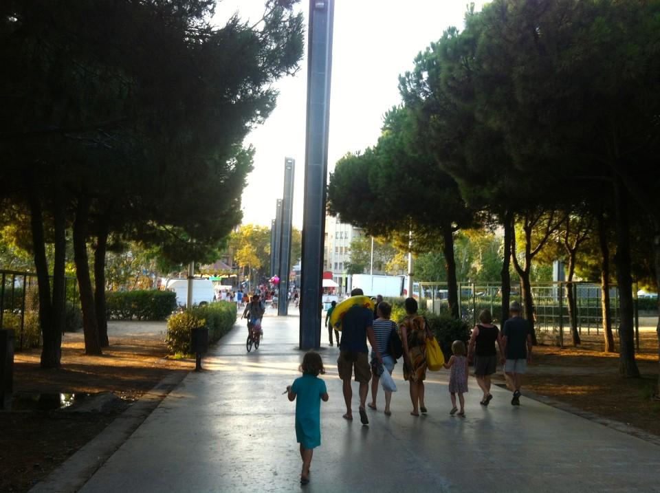 Barcelona El Poble Nou auf den Lieblingsflecken