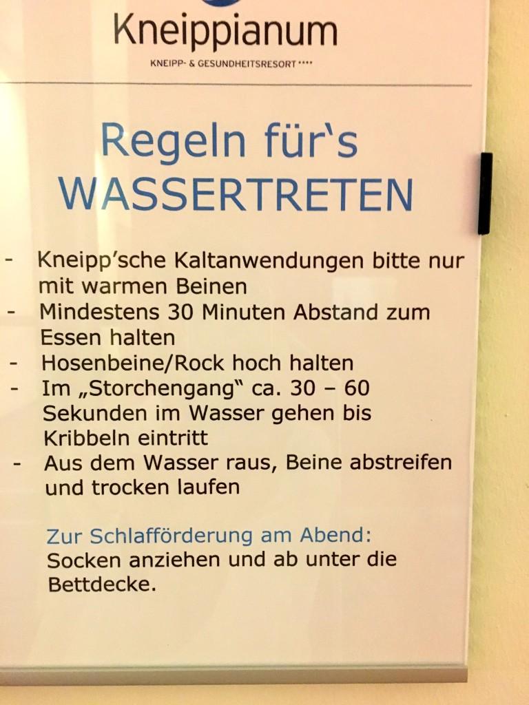 Kneipp-Kur Kneippianum Bad Wörishofen